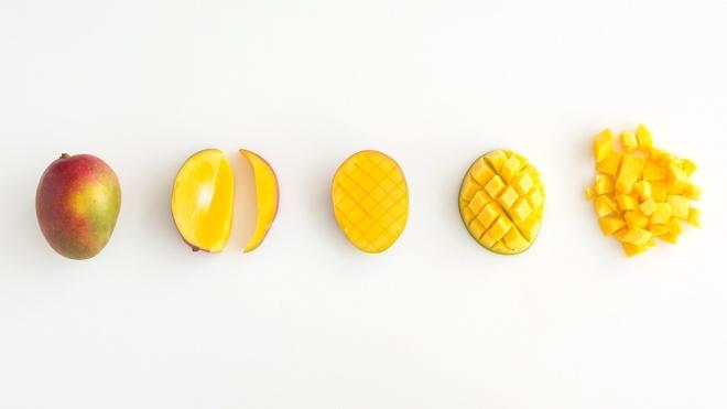 How To Cut A Mango Via MarthaStewart.com